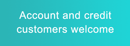 Account and credit customers welcome